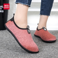 WeiDeng Winter Fur Fit Foot Warm No Slip Nap Soft   Slipper   Kicks Women Home Yoga Travelling Cotton Breathable Comfortable Shoe
