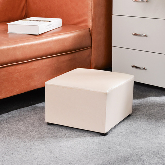 Magnífico Otomana De Cuero Marrón Con Muebles De Almacenamiento ...