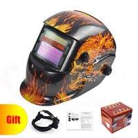 Skull Solar Auto Darkening MIG MMA TIG Electric Welding Welding Helmet Cap for Welding Machine Welding & Soldering Supplies