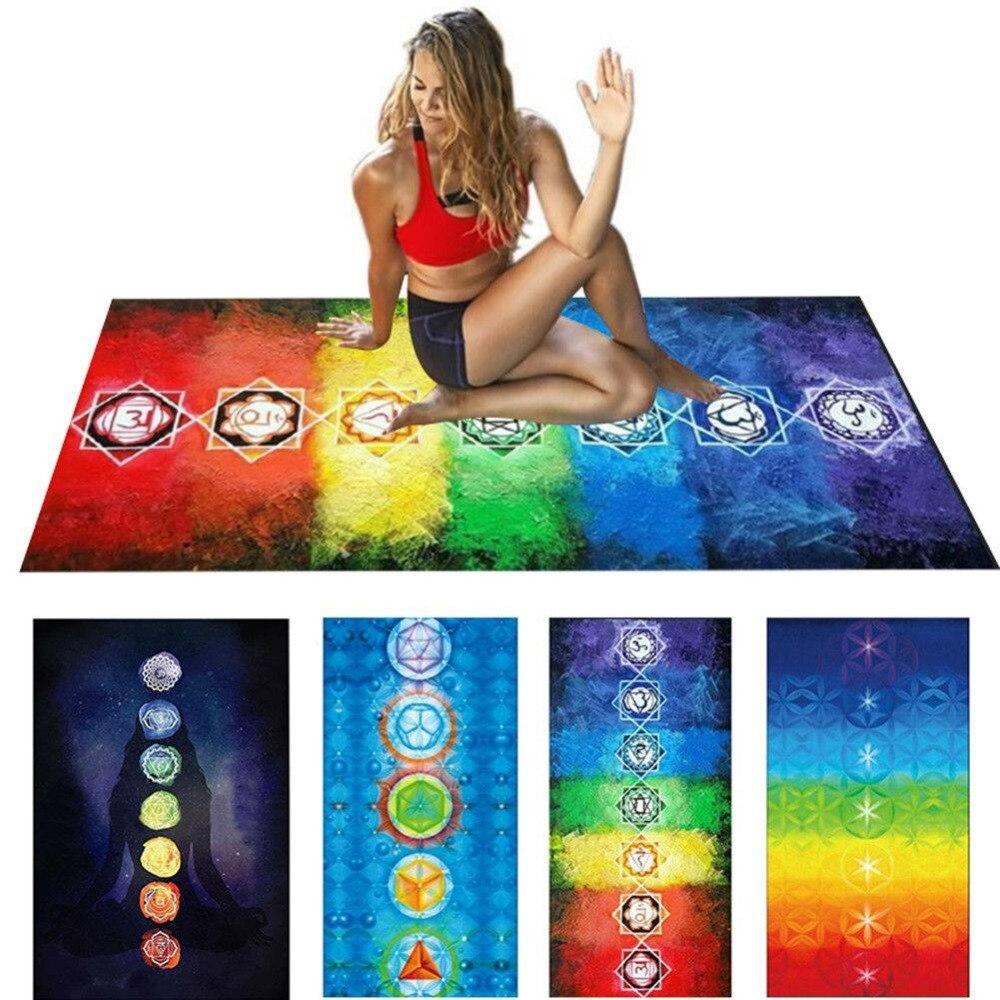 7 Chakra Mandala Bohemia Hanging Blanket Tapestry Summer Beach Towel Yoga Mat Lady Fitness Shaping
