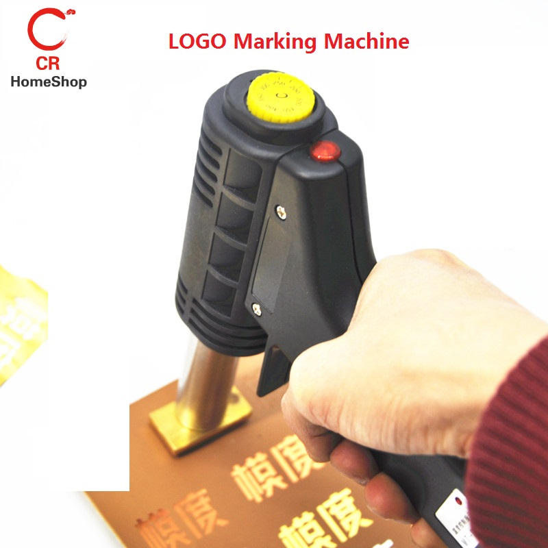 220V Handheld LOGO Marking Machine Pressure Mark Trademark Stamping Wood Leather Plastics Carton Tire Bronzing Customizable Logo