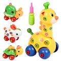 Niños Rompecabezas de Animales Juguetes Educativos Para Niños de Montaje Desmontaje Juguete de la Historieta Diseño De Plástico Ensambladas Juguetes educativos