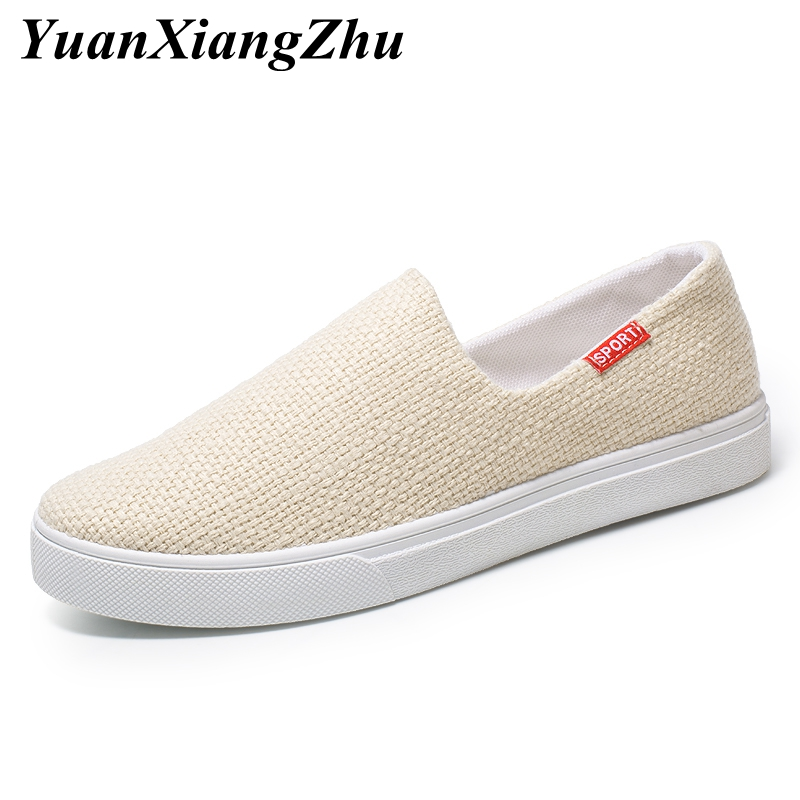 2019 Summer Mens Shoes Slip on Loafers Men Comfortable Men 39 s Casual Shoes Brand Fashion Breathable Canvas Driving Shoes Man in Men 39 s Casual Shoes from Shoes