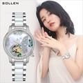 SOLLEN люксовый бренд женские часы-браслет ослепительной красоты sSpace керамические девушки автоматические механические наручные часы женские...