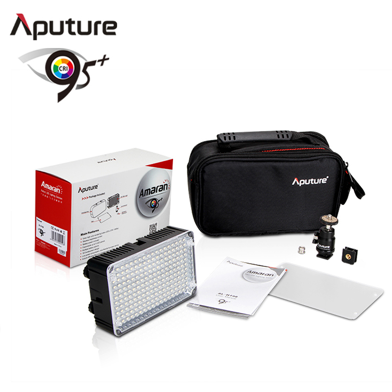 ФОТО Aputure Amaran AL-H198 High CRI 95+ Led Panel LED Video Light photography lighting for Canon Nikon Camcorder fotografia Light