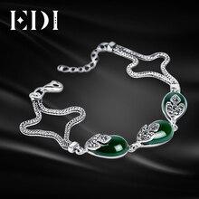 Здесь можно купить  Red Garnet Ruby-jewelry 925-sterling-silver flowers bracelet & bangles for women Bohemian snake chain bijoux