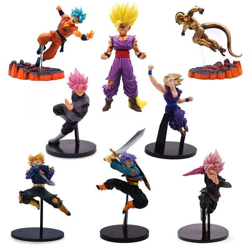 8 Set Dragon Ball Z Super Saiyan Son Goku Gohan Freeza Trunks Action Figures Anime DBZ PVC Collection Model Gift For Kids Toy