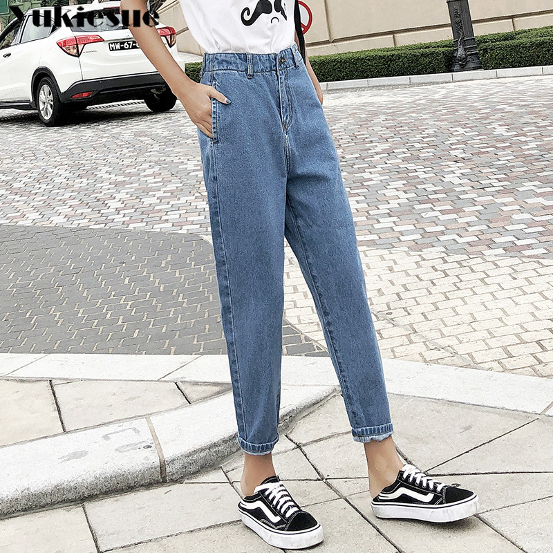 Push Up Mom Jeans Streetwear For Women Casual Loose Casual Denim Pants And Trousers 2019 Summer Basics Jeans Woman Plus Size