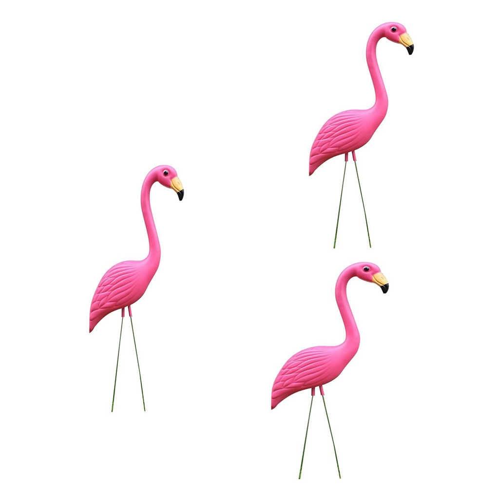 3 x яркие пластиковые фламинго Открытый Пейзаж Сад газон статуэтки пастбища праздник орнамент