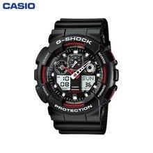 Наручные часы Casio GA-100-1A4 мужские электронные на пластиковом ремешке