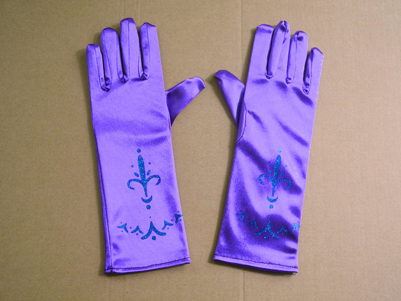 Children's holiday party gloves birthday decorated gloves snow princess print gloves
