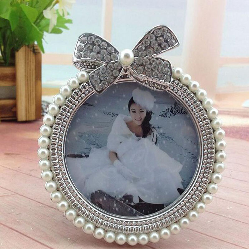 3pcs/set Delicate Handmade Pearl Bow Decoration Picture Frames ...