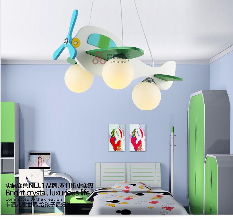 Здесь можно купить  modern  Cartoon  Luminaire Lamparas   Aircraft Pendant Child Bedroom Lamp    Свет и освещение