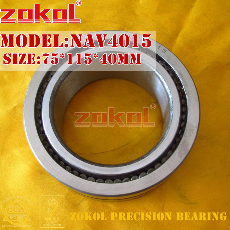 ZOKOL bearing NAV4015 Full bore needle roller bearing with inner ring 75*115*40mm chainsaw piston assy with rings needle bearing fit partner 350 craftsman poulan sm4018 220 260 pp220 husqvarna replacement parts