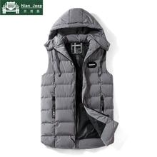 Fashion Sleeveless Jacket Men 2018 Brand Casual High Quality Mens Warm