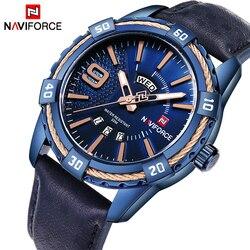 Luksusowa marka NAVIFORCE mężczyźni mody sportów zegarki wodoodporne męska data zegar kwarcowy człowiek skórzany zegarek na rękę Relogio Masculino
