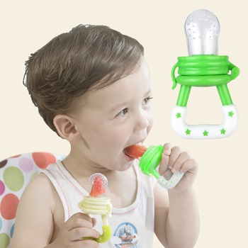 1 Pcs Baby Pacifier Infant Nipple Soother Toddler Kids Pacifier Feeder For Fruits Food Nibler Dummy Baby Feeding Pacifier image