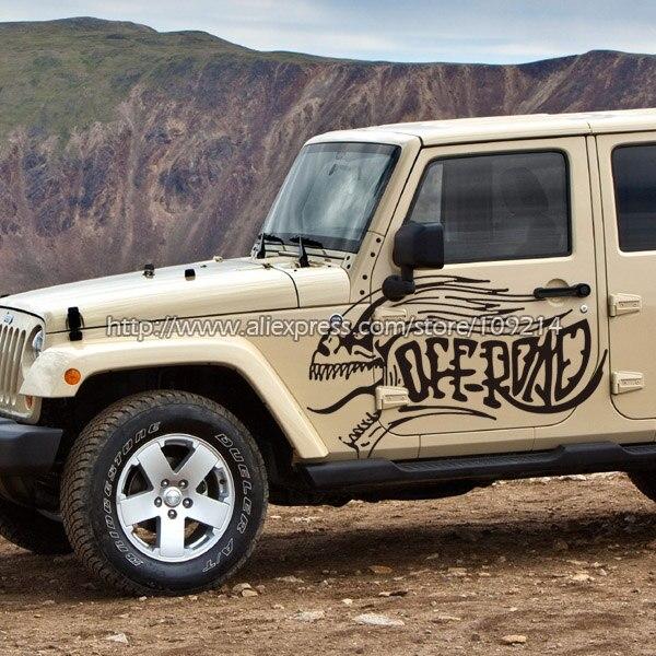 Diable hors route F150 Rubicon Cherokee découverte SUV 4WD 4X4 quatre roues Van camion décalcomanie autocollants étanche T04
