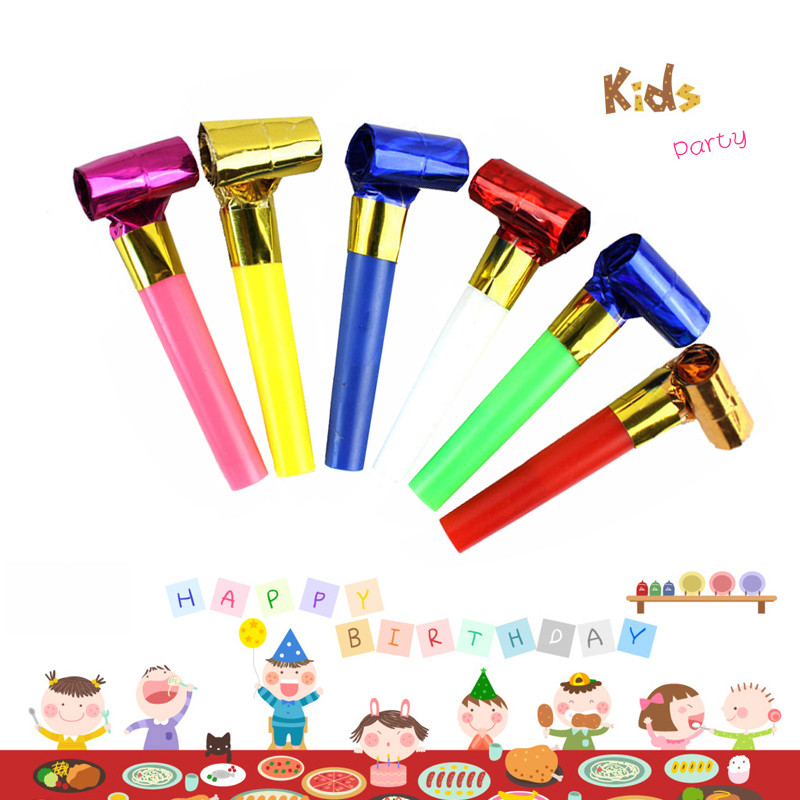 30Pcs Children Birthday Party Noise Makers Glitter Blowouts Festival Funny Prop Pinata Toys Kids Party Favors Gift Horn Whistle
