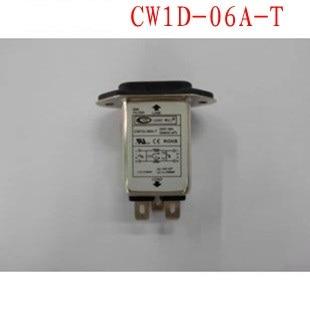 CW1D-06A-T AC 250V 6A Panel Mount Single Phase 3 Pin Soldering Lug Terminal EMI Filter screw terminals metal casing 10a ac 115 250v emi filter