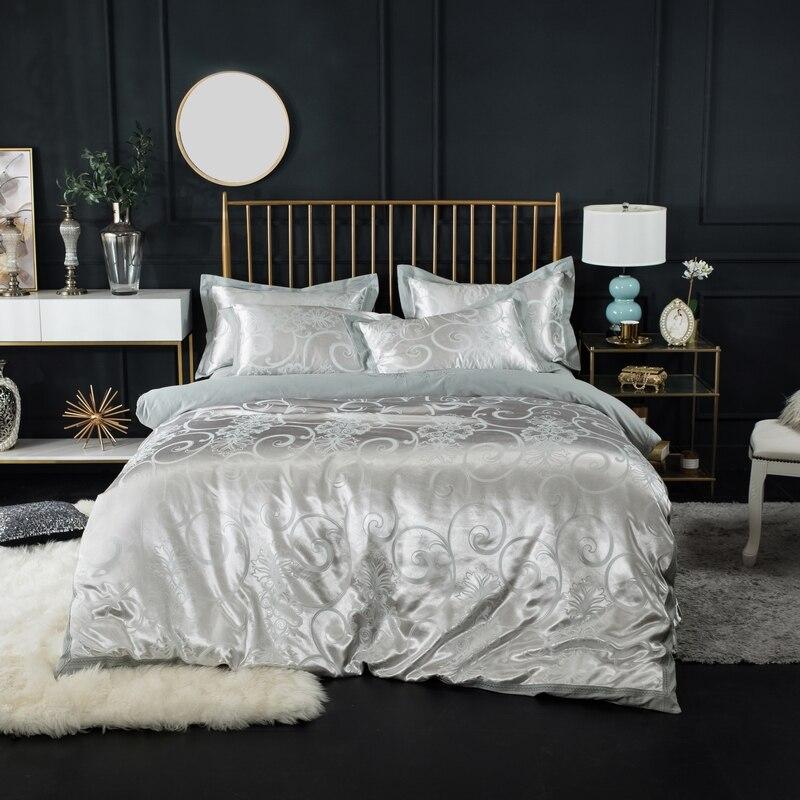 Luxury Jacquard Bedding Set King Size Cotton Polyester