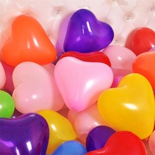 10pcs 12inch Love Heart Latex Helium Balloons Wedding Decoration  Valentines Day Happy Birthday Party Ballon Anniversary Shower