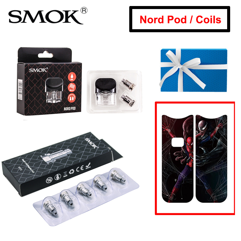 Original SMOK Nord Pod 0.6ohm 0.8oohm Nord Mesh MTL 1.4ohm Ceramic Regular Coil Replace For Nord KIT Electronic Cigarette Core(China)