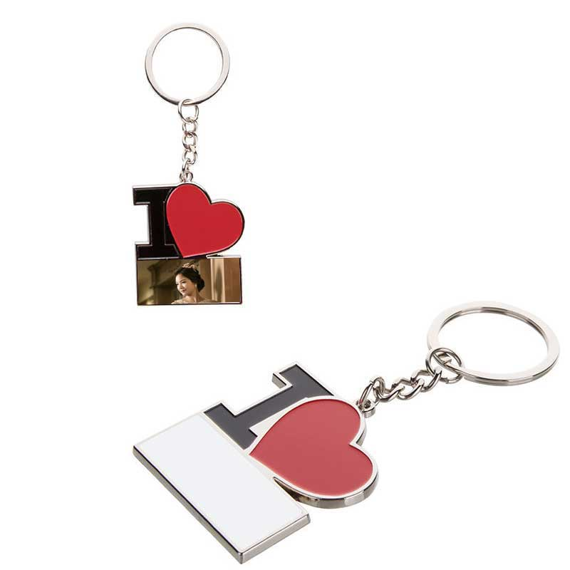 Sublimation Keychains I Love Red Heart Style Key Ring Hot Transfer Printing Blank Custom Consumables 10pieces/lot 2018 New Style