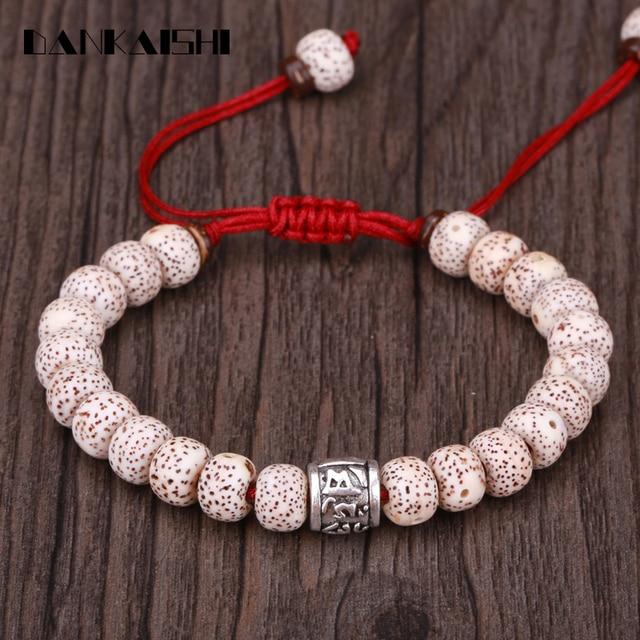 Dankaishi Bodhi Six Words Beads Bracelets Woven Bracelet Women Men Adjule Bangle Tibetan Buddhism Hand String