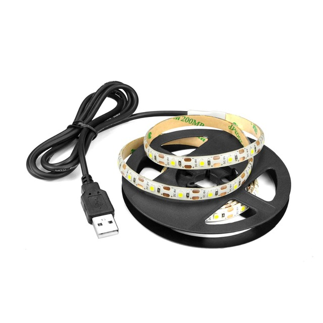 5V USB Power LED lamp Strip 2835 SMD RGB LED Under Cabinet light TV Desktop PC Screen Backlight Wardrobe Closet Kitchen lighting