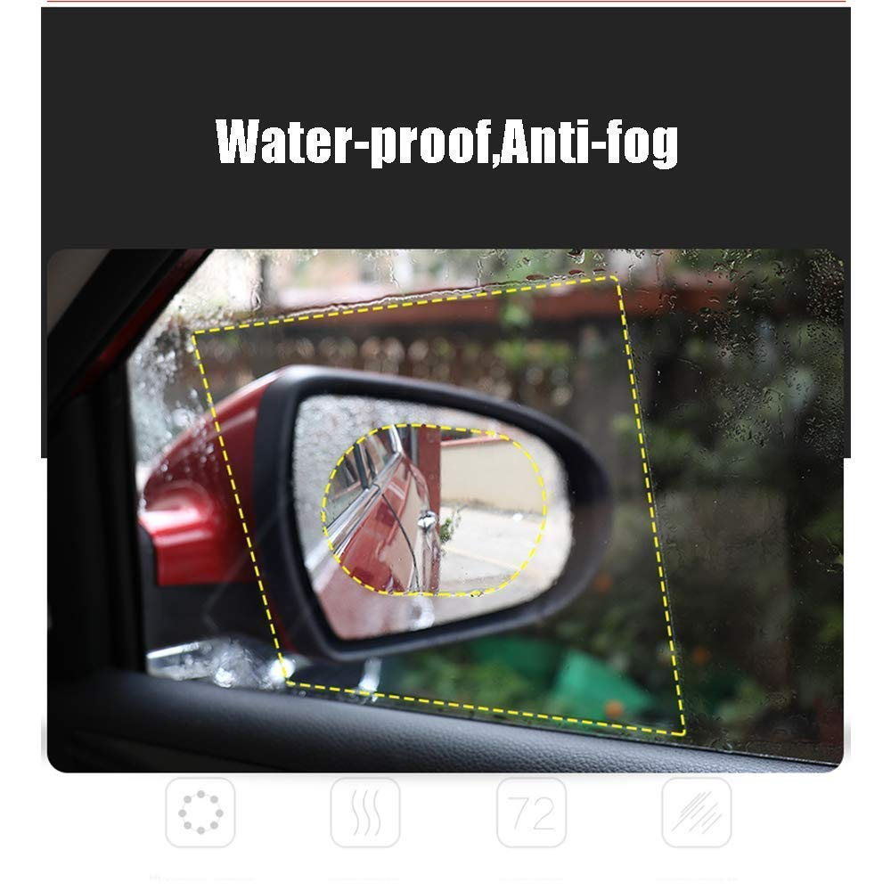 Image 2 - Car Mirror Side Window Clear Film Anti Fog Membrane Waterproof Rainproof Car Anti Water Sticker Car Accessories 2PCS/Set-in Mirror & Covers from Automobiles & Motorcycles