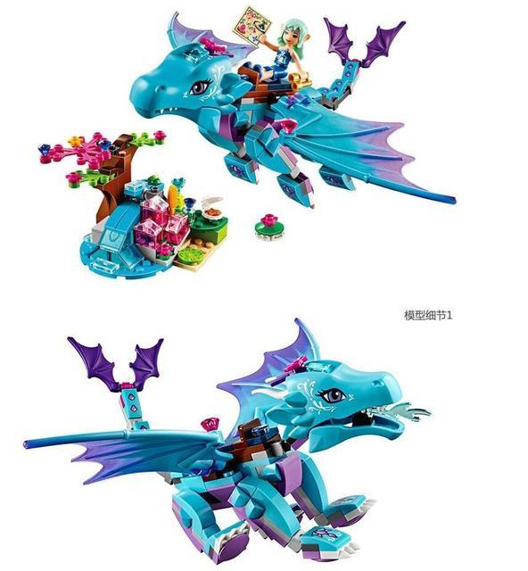 214 pcs. / Set. Bela 10500 Water Dragon Adventures Brick Building DIY Educational Toys Compatibility Legoe Elves