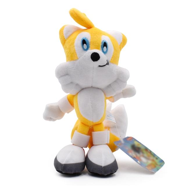 20 cm Amarelo Peluche Macio Stuffed Dolls Plush Toys Boneca Dos Desenhos Animados do Anime do Sonic Para Crianças Caçoa o Presente 2019 Nova