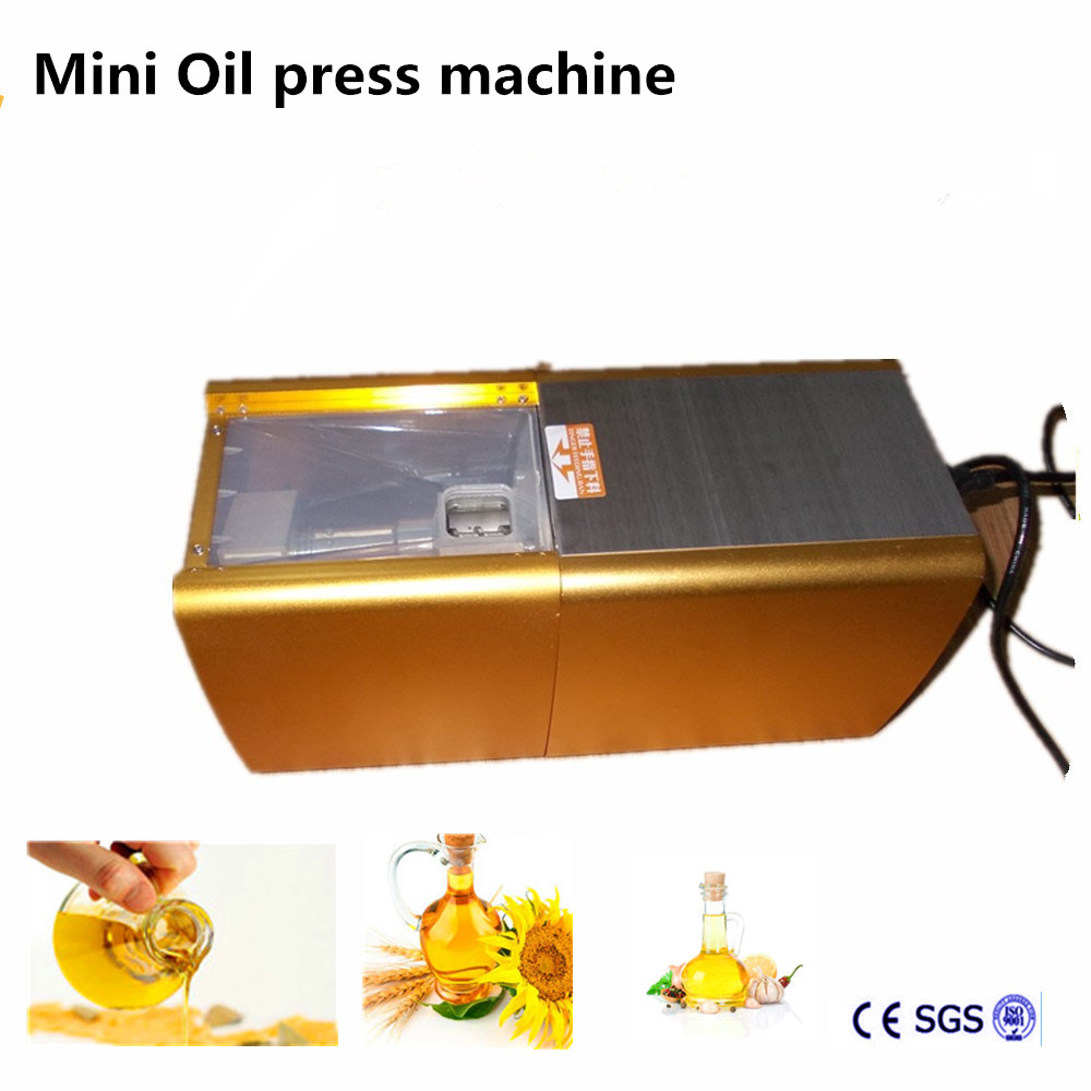 200W 220V Mini Oil Press Machine Nuts sesame corn Peanut Oil Pressing Presser Machine With English Manual