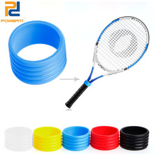 Powerti 20pcs / lot Racket-handvat van tennishandvat Rubberen ring rekbare tennisracket Overgrip