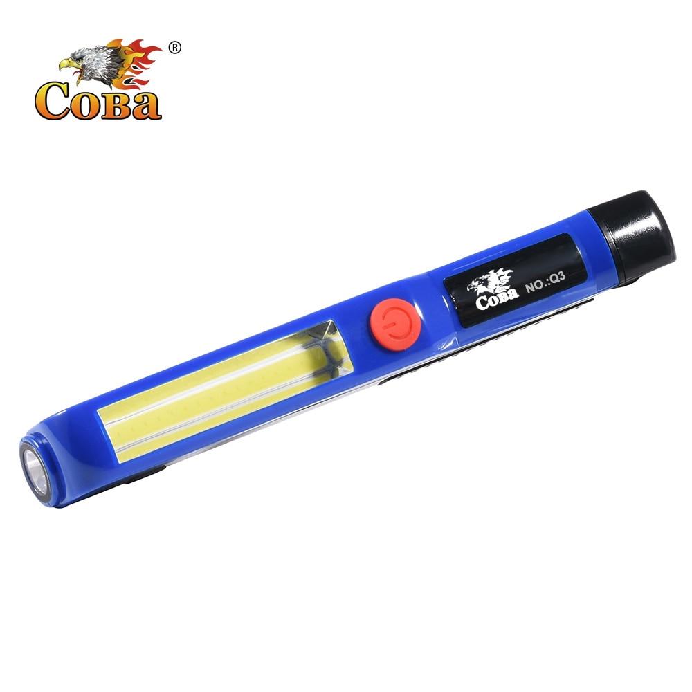 Coba Mini Work Light Led Flashlight Cob Portable Light Work Lamp For Family Emergency 3*AAA Magnetic Waterproof Light