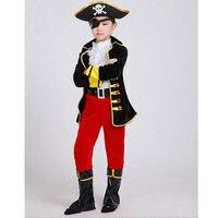 Rifornimenti Del Partito di Halloween Pirata Capain Jack Cosplay Boy Abbigliamento Costume di Halloween Per I Bambini Natale Costumi Vestiti