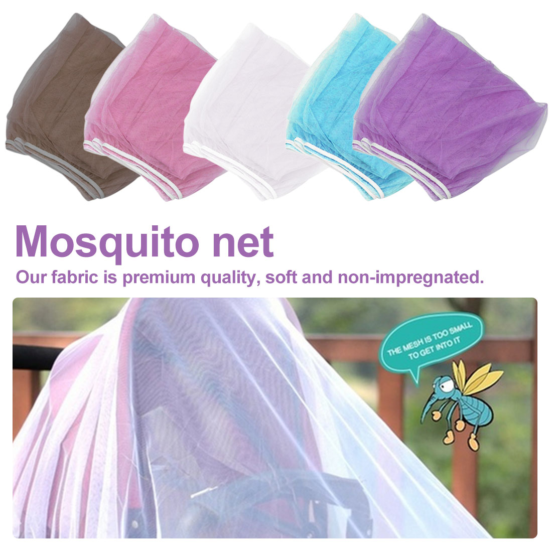 New Baby Carriage Accessories Summer Baby Trolley Net Yarn Curtain Car Covers Insect Care Baby Stroller Mosquito Net