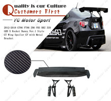 Carbon Fiber GRD X Rocket Bunny Ver.1 Style GT Wing with Metal Bracket Fit For 2012-2018 GT86 FT86 ZN6 FRS BRZ ZC6 Rear Spoiler
