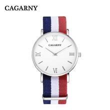 Fashion business casual luxury brand for men and women couple watch quartz watch waterproof nylon belt relogio masculino
