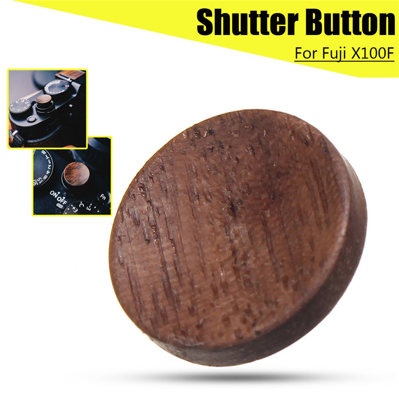 цена на Camera Wooden Solid Wood Shutter Release Button for Fuji X100F FujiFilm X100F Consumer Electronics Camera Accessories