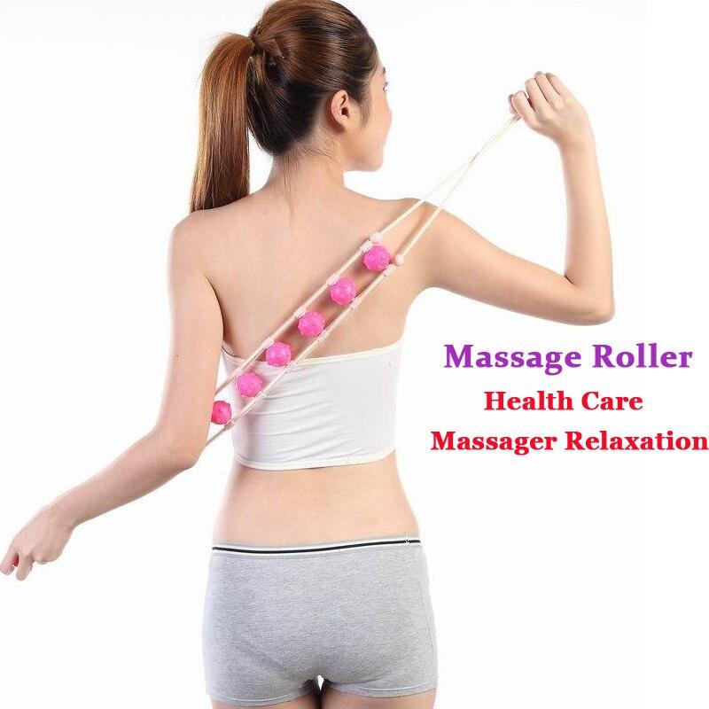 цена  Massage Plastic Multi-Effect Waist Shoulder Massage Roller Pull Back Device Body Relaxation Tool  онлайн в 2017 году