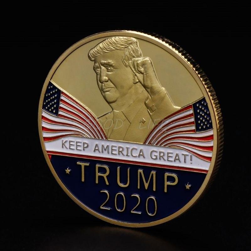 Commemorative Coin America President Trump 2020 Collection Speech Crafts Art Storage Souvenir