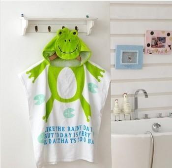 De dibujos animados 100% de los niños del algodón toalla de baño infantil toalla de bebé niños Albornoces baby beach vestido niño albornoz toallas de playa