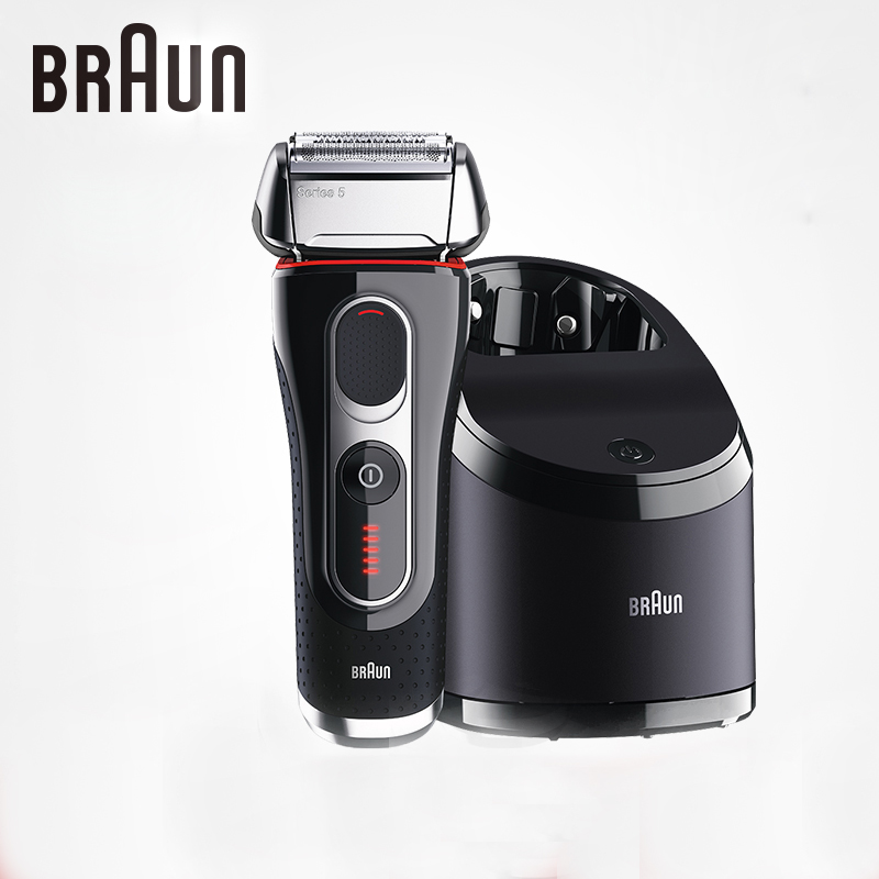 Braun Electric Shavers 5090cc For Men Shaving Rechargeable Barbeador Washable Cleaning Center Safety Razors braun electric shavers 5030s rechargeable reciprocating blades high quality shaving safety razors for men