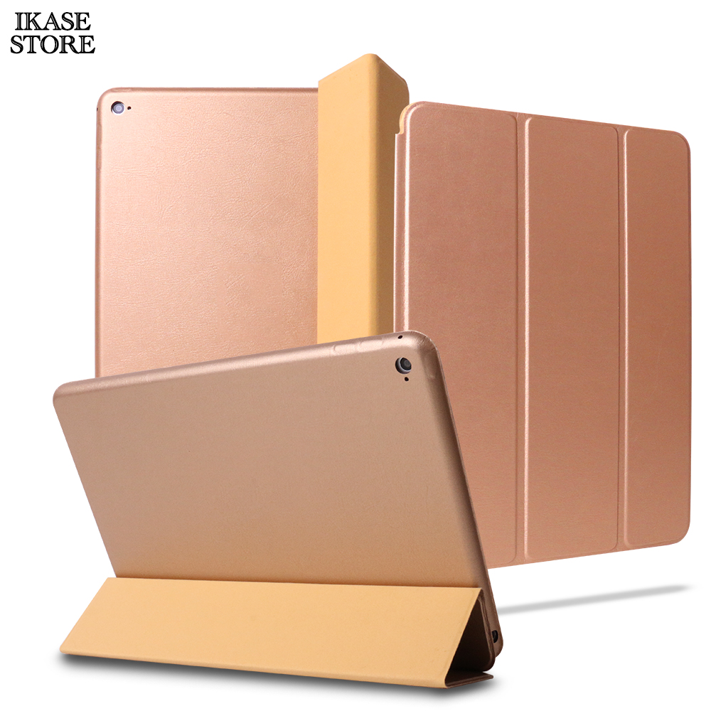 Ikase Store 9.7 inch PU Leather Smart Case For iPad Air 2 Auto Sleep Original Flip PU Stand Cover case for ipad 6 A1566 A1567