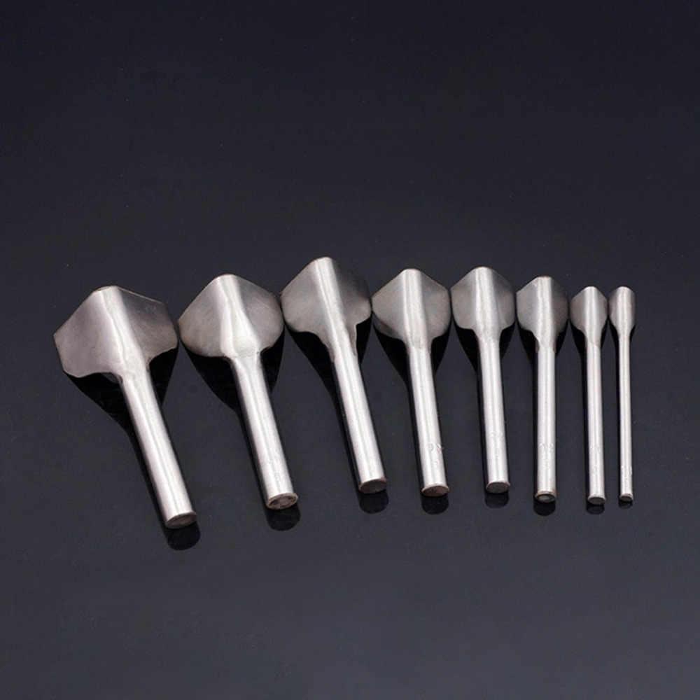 V-צורת עור DIY עבודת יד כלי חגורת עגול פילה בצורת אגרוף עם זנב לחתוך עמיד פלדה עור DIY חיתוך כלי