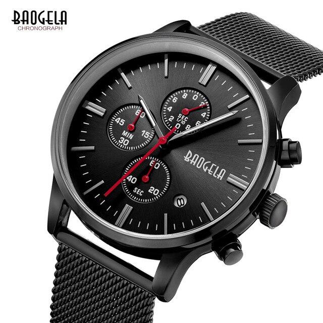 BAOGELA  Sports quartz-watch stainless steel Men Watches  3