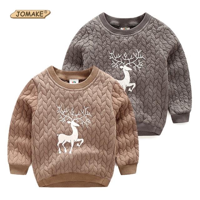 Cervos do natal Meninos Camisolas de Outono e Inverno Meninos Camisetas Roupas de Bebê Quentes Crianças Pullovers Casuais Tops Vestuário infantil