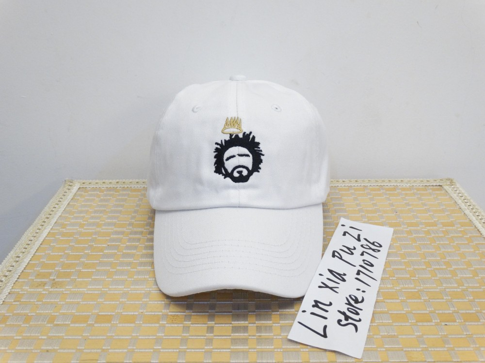 206ce2f5 Custom Unstructured Black and white Dad Hat Cap J Cole TDE New Born Sinner  Crown Baseball Cap Curved Bill -in Baseball Caps from Apparel Accessories  on ...